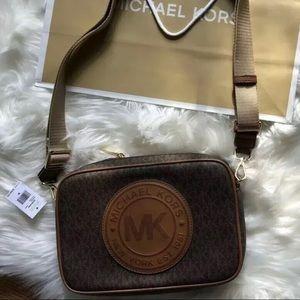 $268 Michael Kors Fulton Crossbody MK Purse Bag
